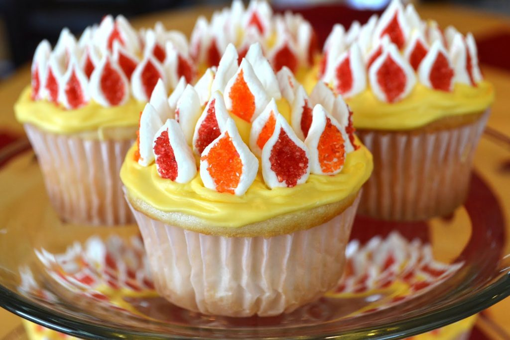 Pentecost Flamming Cupcakes '11
